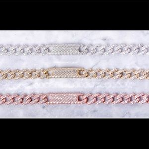 Jewelry - Crystal ID Link Chain Bracelet